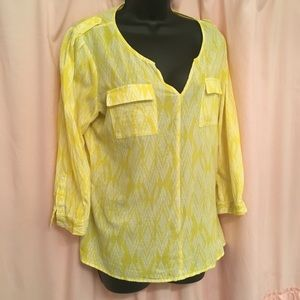 Banana Republic yellow blouse size large